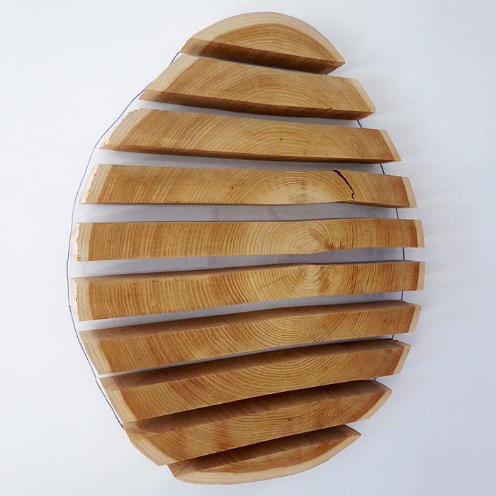 Déco de mur, oeuf en bois réalisé par Anthony Hautbois de Bois et Fer Création