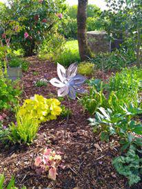 Fleur en fer pour déco de jardin réalisée par Anthony Hautbois de Bois et Fer Création
