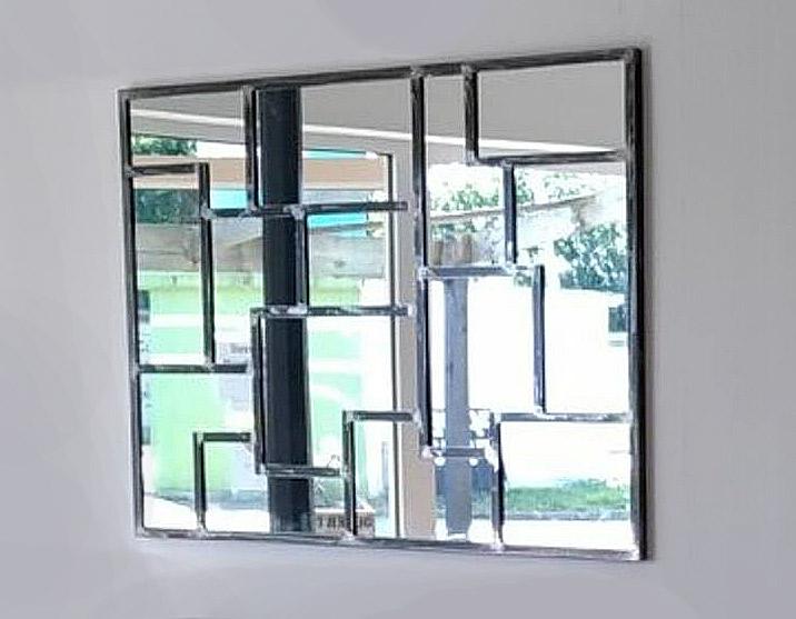 Miroir en fer réalisé par Anthony Hautbois de Bois et Fer Création